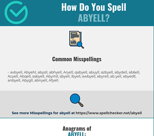 Correct spelling for Abyell