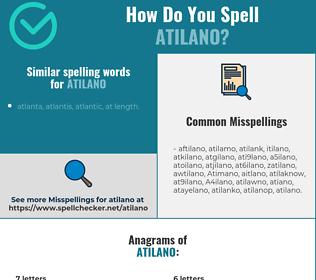Correct spelling for Atilano