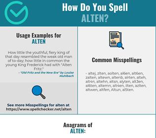 Correct spelling for Alten