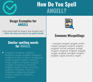 Correct spelling for Angell