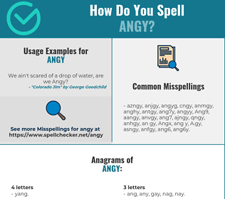 Correct spelling for Angy