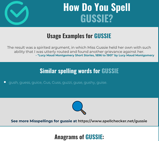 Correct spelling for Gussie