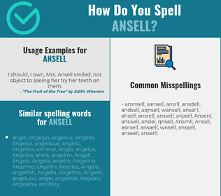 Correct spelling for Ansell