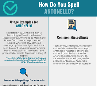 Correct spelling for Antonello