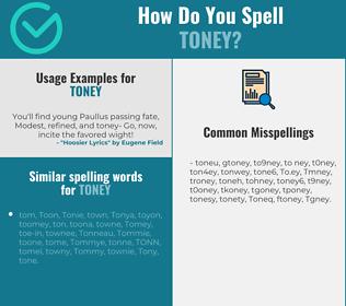 Correct spelling for Toney