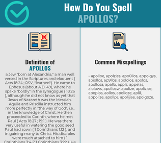 Correct spelling for Apollos