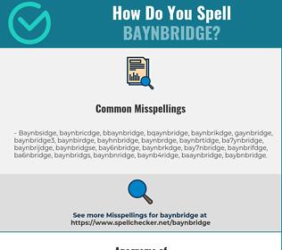 Correct spelling for Baynbridge