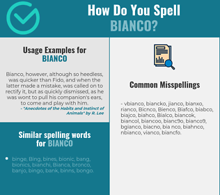 Correct spelling for Bianco