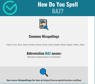 Correct spelling for Baz