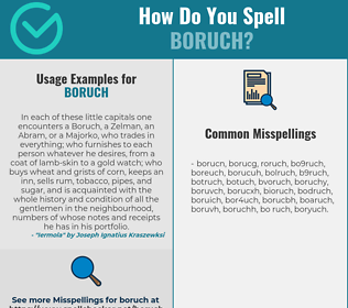 Correct spelling for Boruch