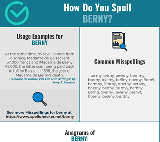 Correct spelling for Berny