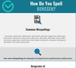 Correct spelling for Benssen