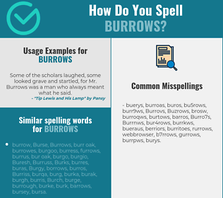 Correct spelling for Burrows