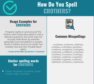 Correct spelling for Crothers