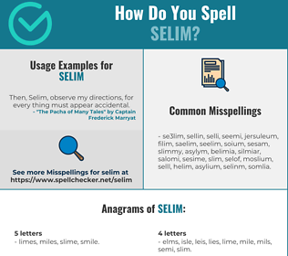 Correct spelling for Selim