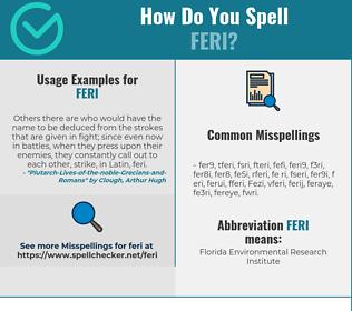Correct spelling for Feri
