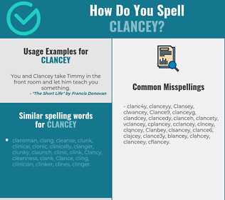 Correct spelling for Clancey
