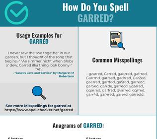 Correct spelling for Garred