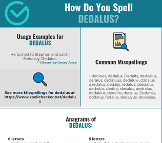 Correct spelling for Dedalus