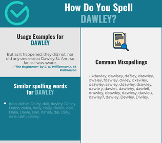 Correct spelling for Dawley