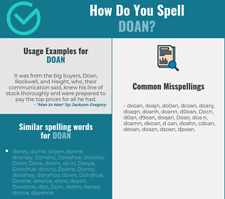Correct spelling for Doan