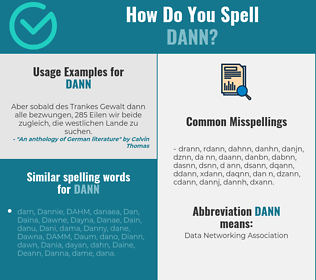 Correct spelling for Dann