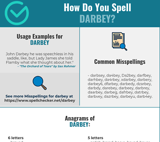 Correct spelling for Darbey