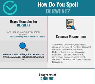 Correct spelling for Derwent
