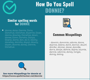 Correct spelling for Donnie