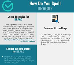 Correct spelling for Drago