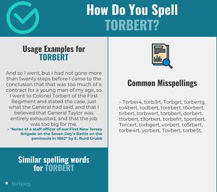 Correct spelling for Torbert