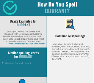 Correct spelling for Durrant