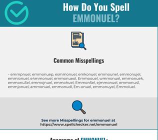 Correct spelling for Emmonuel