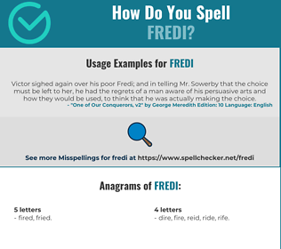 Correct spelling for Fredi