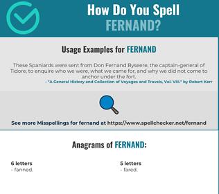 Correct spelling for Fernand