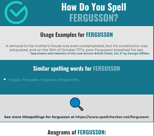 Correct spelling for Fergusson