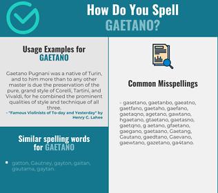 Correct spelling for Gaetano