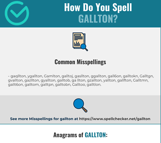 Correct spelling for Gallton