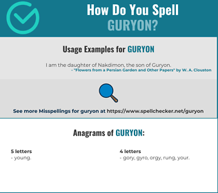 Correct spelling for Guryon
