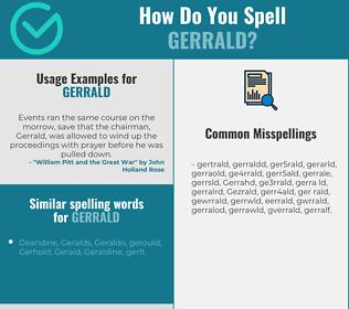 Correct spelling for Gerrald