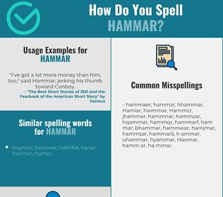 Correct spelling for Hammar