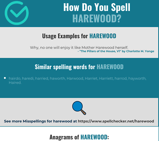 Correct spelling for Harewood