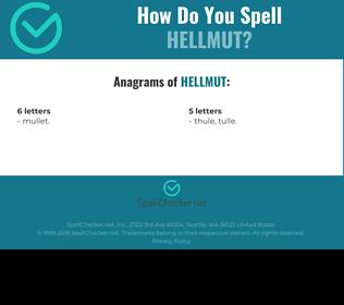 Correct spelling for Hellmut