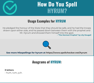 Correct spelling for Hyrum