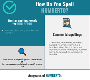 Correct spelling for Humberto