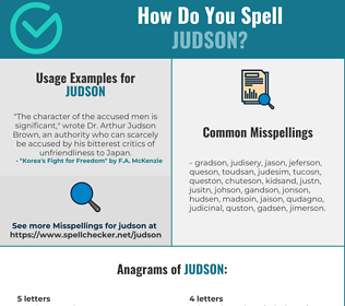 Correct spelling for Judson