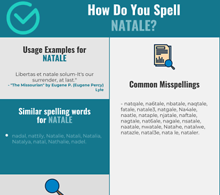 Correct spelling for Natale