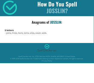 Correct spelling for Josslin