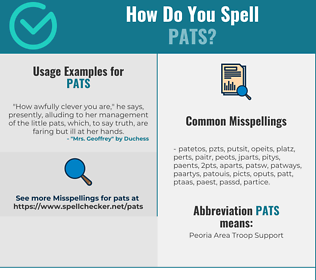 Correct spelling for Pats