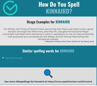 Correct spelling for Kinnaird